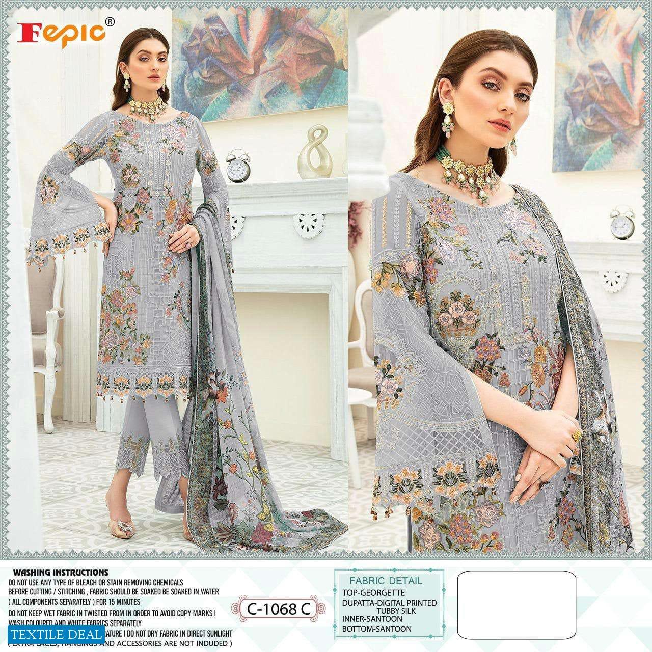 Fepic C-1068 Colour Wholesale Pakistani Concept Dress