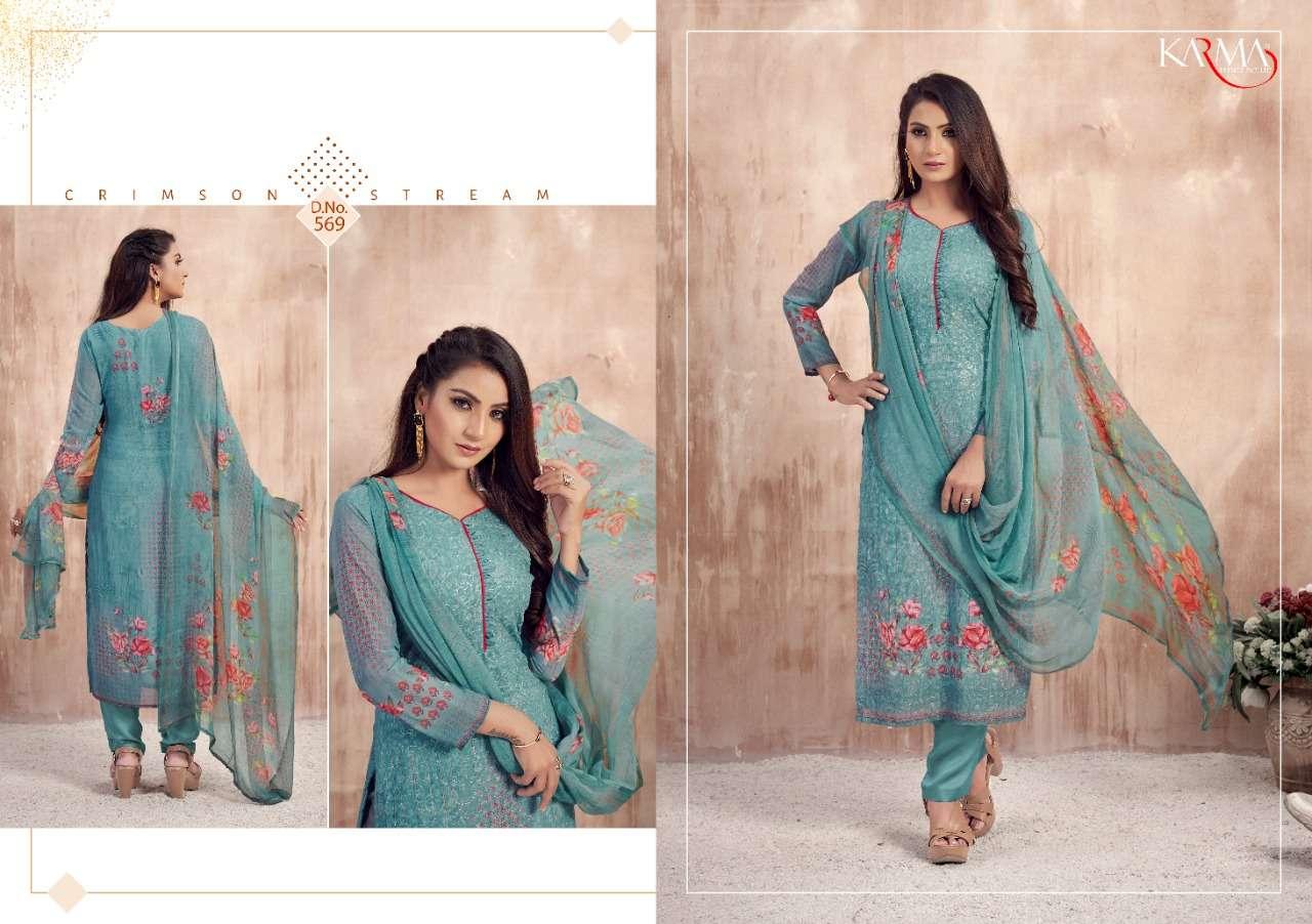 Karma Lamhaa Wholesale Shopping Embroidered Salwar Kameez