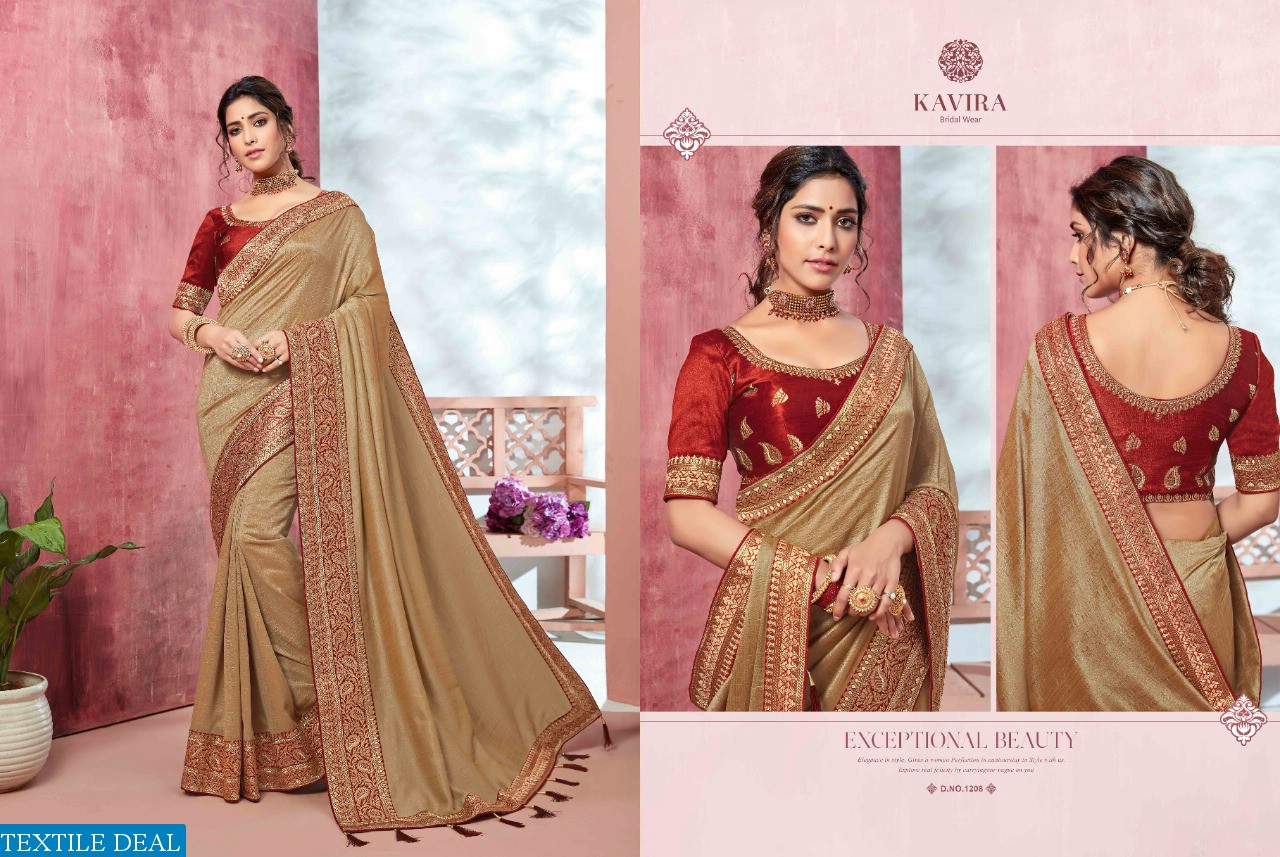 Kavira Vol-3 1201 Series Wholesale Festive Indian Sarees