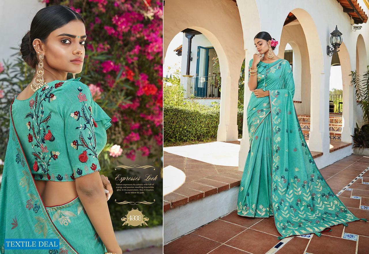 Kessi Garden Silk Wholesale Blended Cotton Jacquard Saree