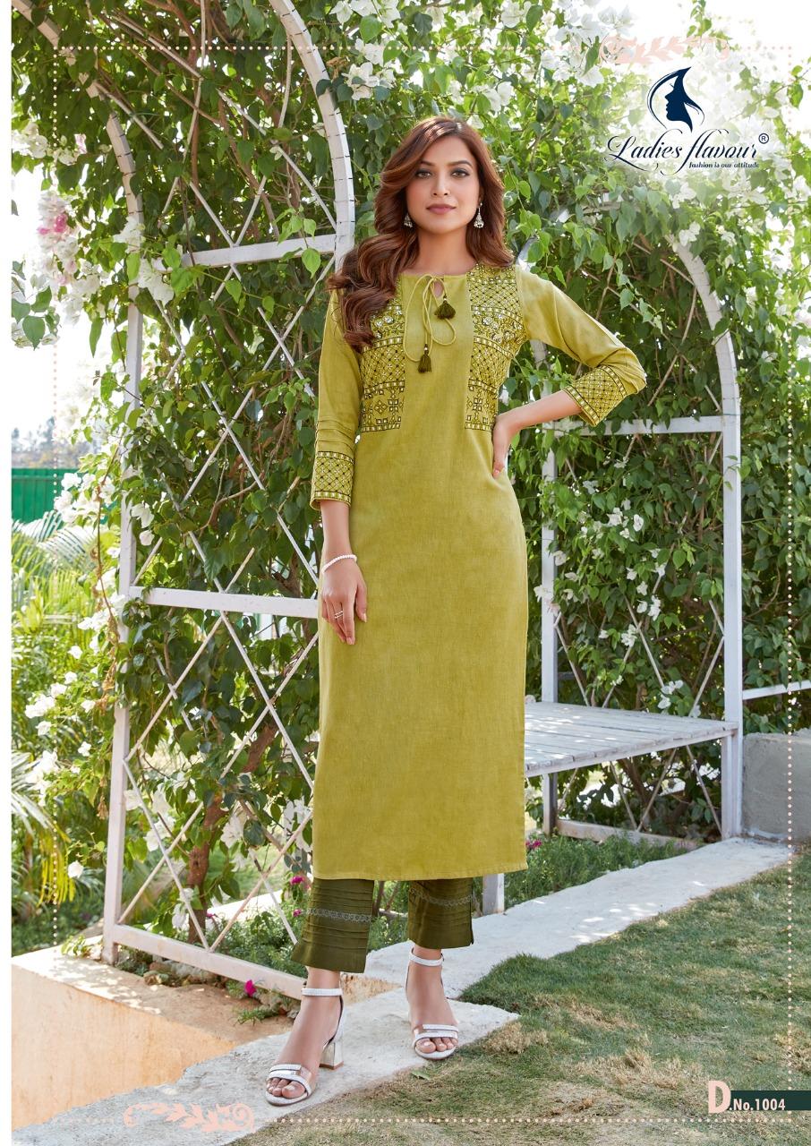 Ladies Flavour Belliza Wholesale Designer Kurti With Pant