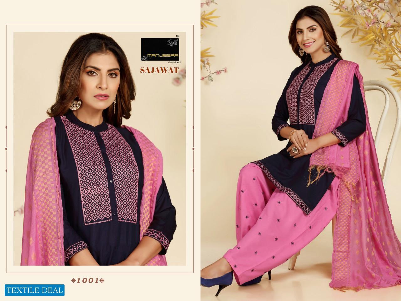 Manjeera Sajawat Wholesale Full Stitched Top And Bottom And Dupatta