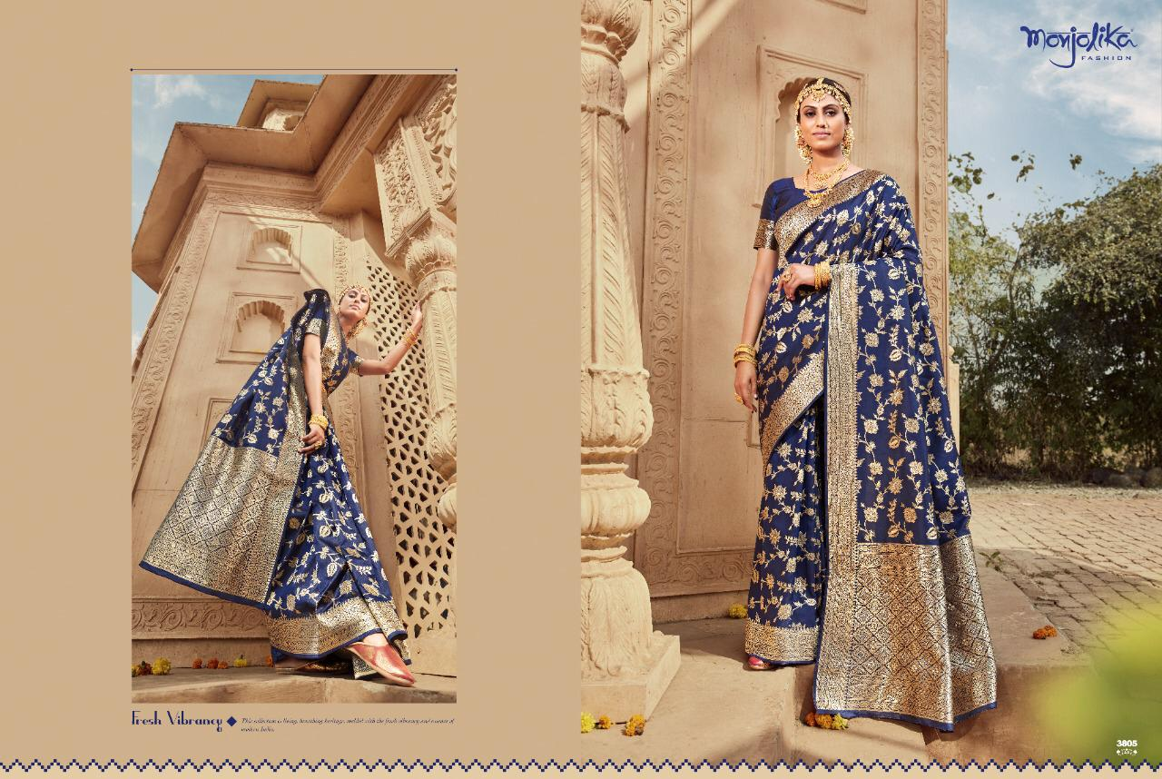 Manjolika Mohini Wholesale Banarasi Silk Ethnic Sarees
