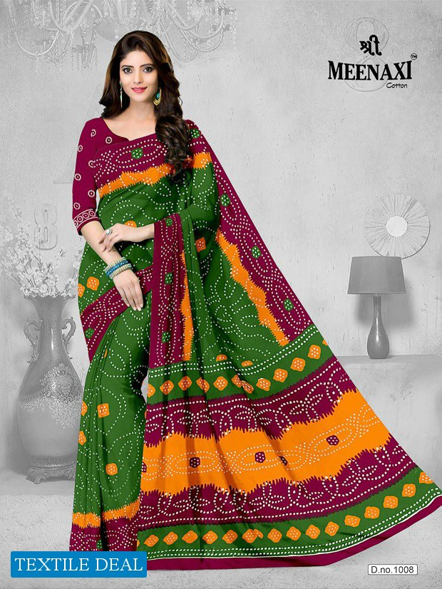 Meenaxi Bandhani Cotton Sarees Wholesale Formal Sarees