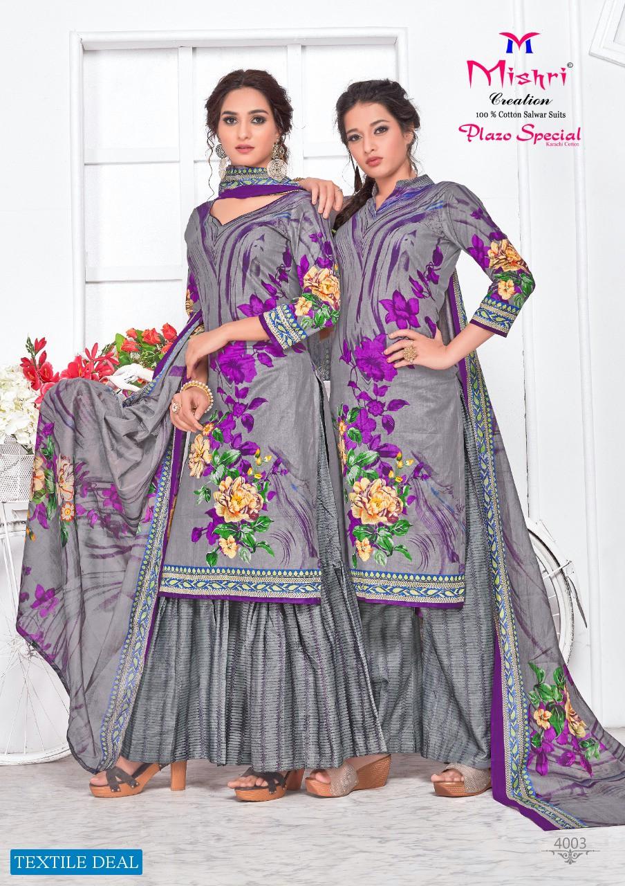 Mishri Plazo Special Vol-4 Wholesale Karachi Cotton Dress Material
