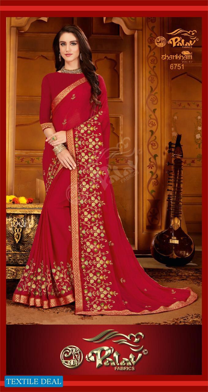 Palav Shankham Vol-17 Wholesale Shopping Ethnic Saree Blouse