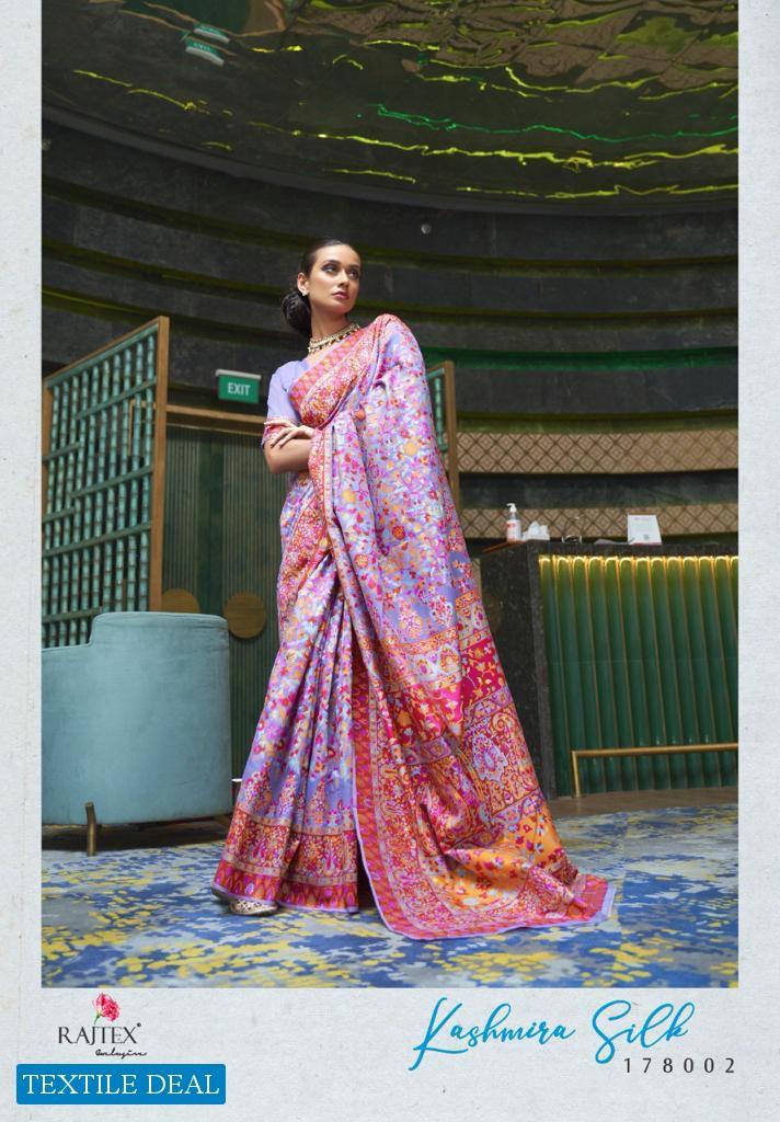 RAJTEX KASHMIRA SILK HANDLOOM WEAVING INDIAN EXCLUSIVE FANCY SAREES