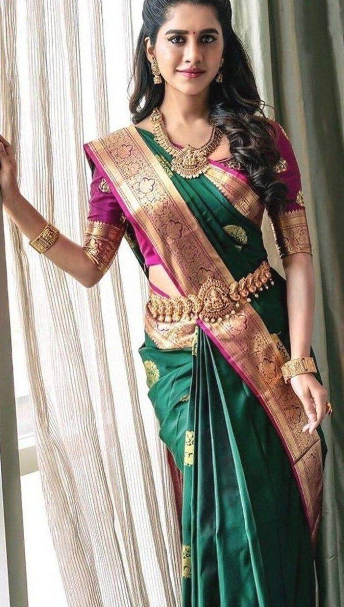 SOUTH INDIAN FASHION WEDDING WEAR SAREE WHOLESALE IN INDIA