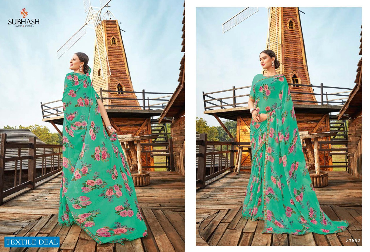 SUBHASH SAREE PRESENTS LIVELY VOL 3 EXCLUSIVE GEORGETTE FOR LADIES COLLECTIONS SAREE