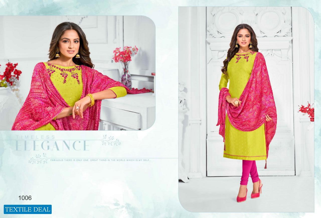 Shagun Bandhej Crush Wholesale Bandhani Dress Material