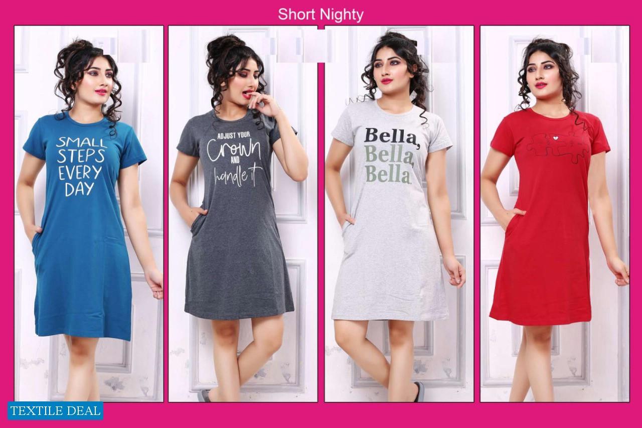 Short Fashion Wholesale Women Nighty T shirt
