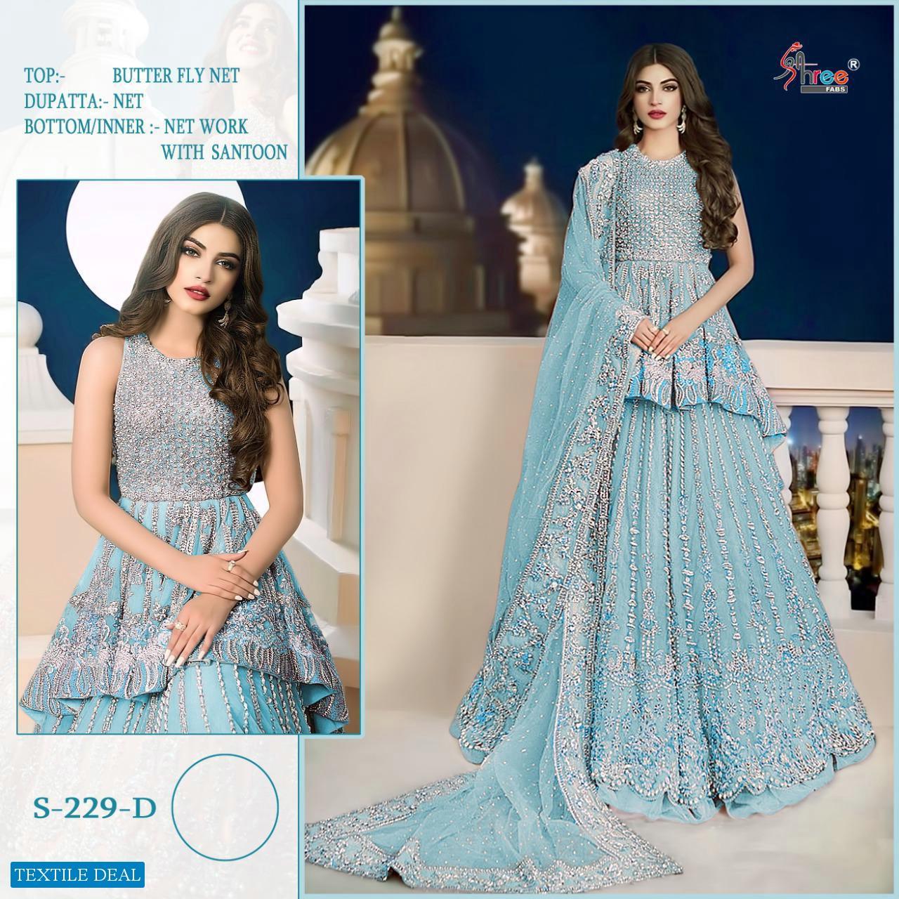 Shree Fab S-229 Colour Wholesale Pakistani Concept Dress