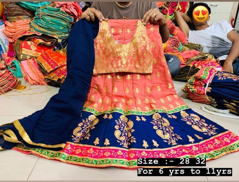 Special Banarasi Collection of Kids Lehenga wholesale in india