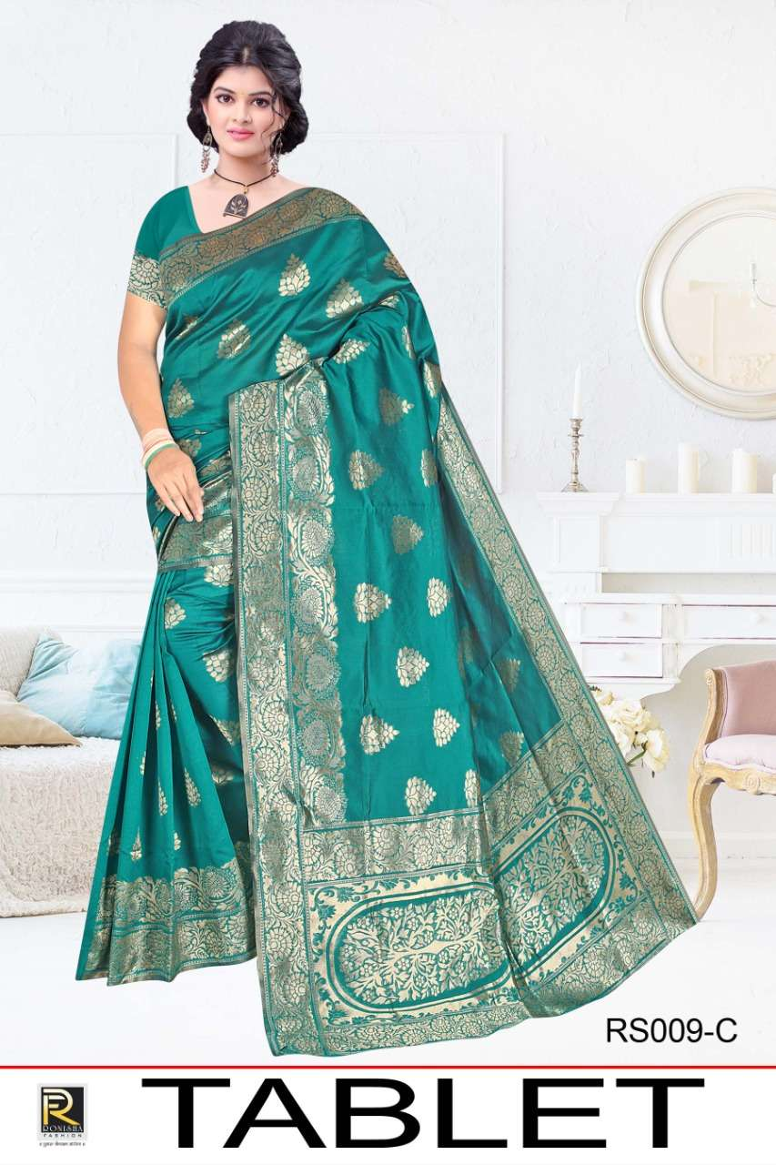 TABLET BY RANJNA SAREE KASUAL WEAR SILK SAREE COLLECTION