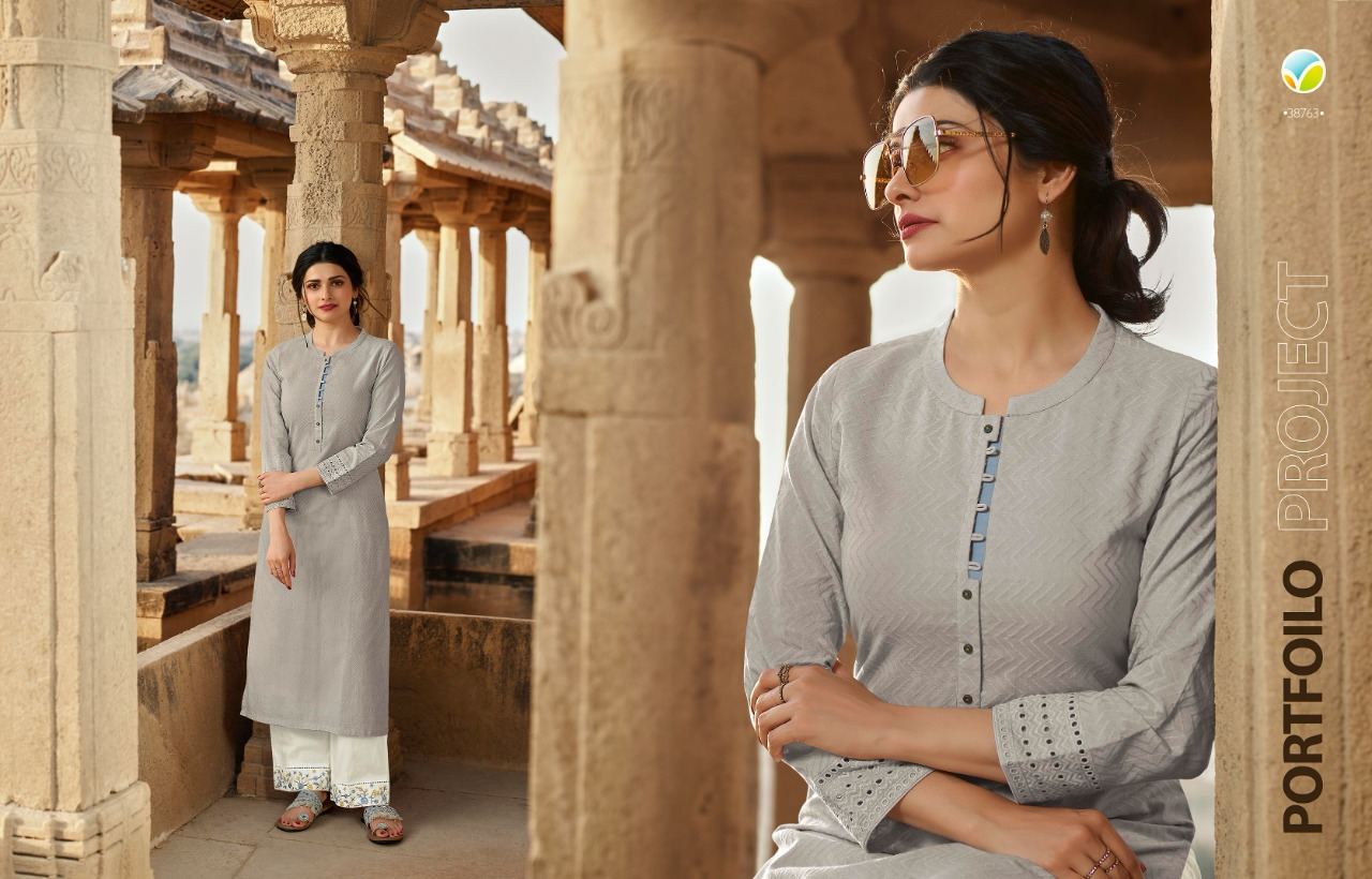 TUMBAA VINTAGE BY VINAY COTTON KURTI WITH PANT CLASSY LOOK COLLECTION