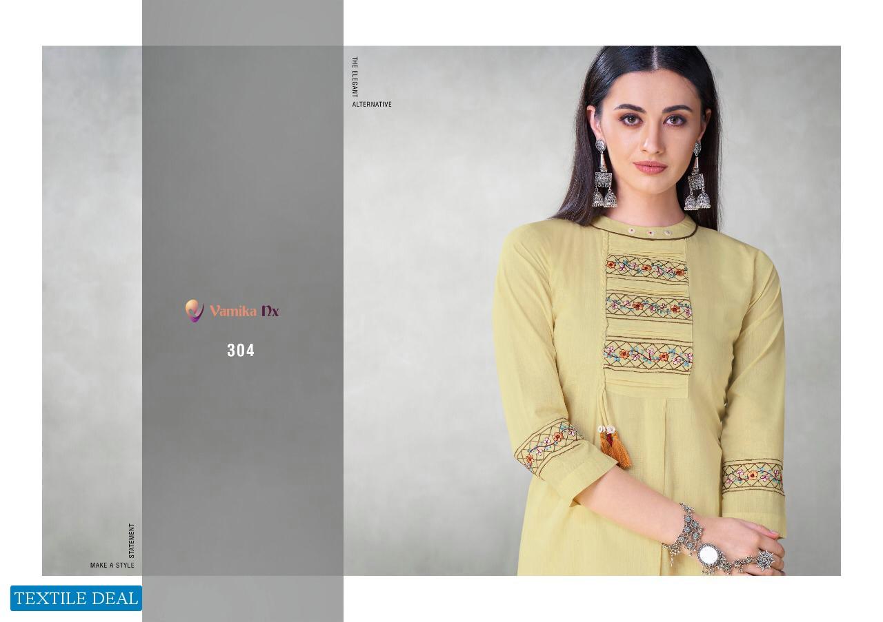 Vamika Mahira Wholesale Reyon Fabrics Kurti Catalog