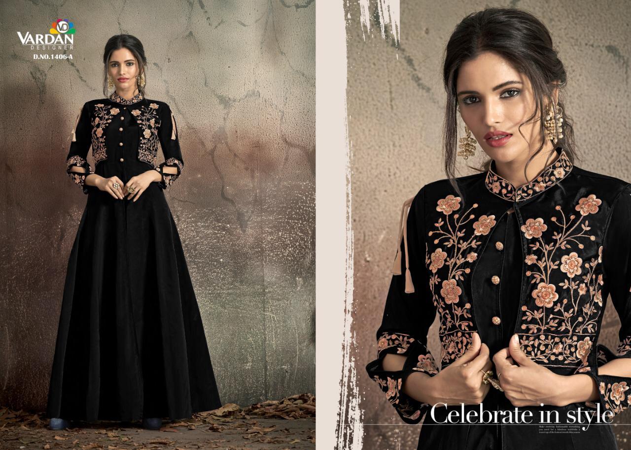 Vardan Navya Gold Vol-14 Wholesale Designer Gown Style Suits