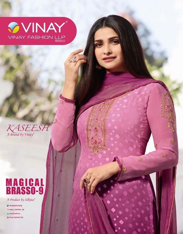 Vinay Magical Brasso Vol-9 Wholesale Straight Salwar Kameez