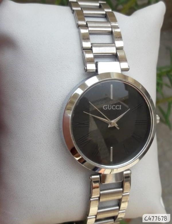 Women Metal Watch Silver Steel Chain wholesale in india
