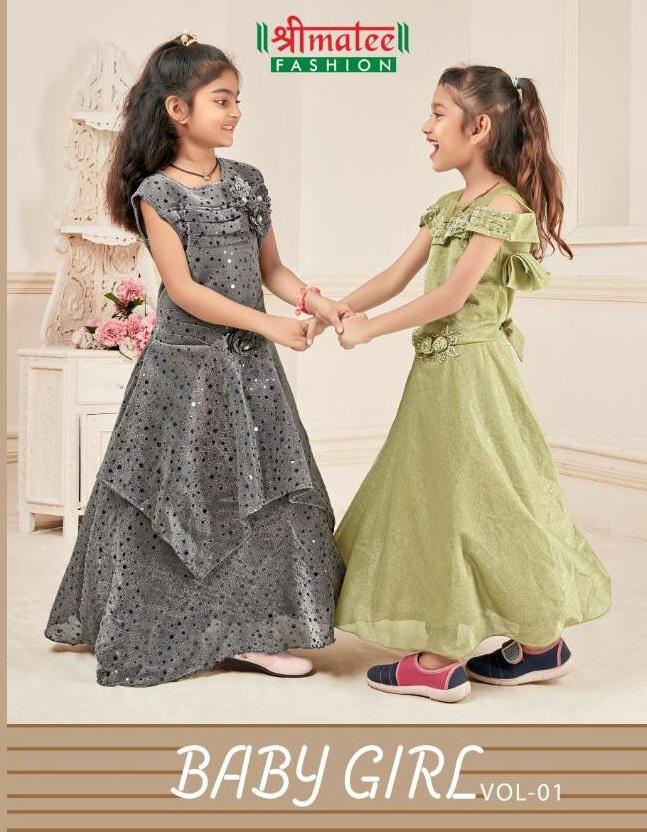 shreematee Baby Girl Vol-1 Wholesale Full Stitched Kids Anarkali Suits